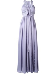 Elie Saab Flared Evening Dress Pink Purple