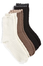 Hue Tex Supersoft Boot Socks 3 Pack Ivory