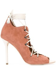 Malone Souliers 'Savannah' Lace Up Pumps Brown