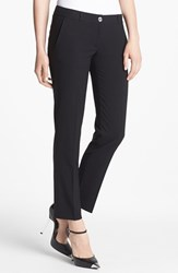 Petite Women's Michael Michael Kors Stretch Ankle Pants Black