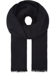 Sandro Reversible Scarf Navy Blue