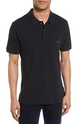 Rodd And Gunn Men's 'The Gunn' Pique Sports Fit Cotton Polo Charcoal