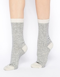 Calvin Klein Holiday Cable Knit Socks Cream