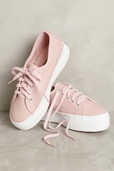 Anthropologie Superga Pink Canvas Platform Sneakers