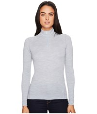 Smartwool Nts Mid 250 Baselayer Zip Top Blue Ice Heather Long Sleeve Pullover