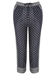 Maison Scotch All Over Printed Trousers Navy