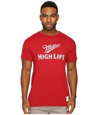 The Original Retro Brand Miller High Life Vintage Cotton Tee Dark Red Men's T Shirt