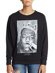 Eleven Paris Crown Biggie Graphic Sweatshirt Black