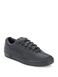 K Swiss Perforated Leather Sneakers Black