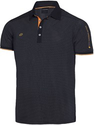 Galvin Green Men's Marlon Ventil8 Polo Orange And Black Orange And Black