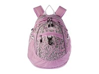 High Sierra Fat Boy Backpack Shadow Leopard Iced Lilac White Backpack Bags Pink