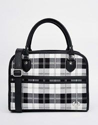 Fred Perry Tote Bag In Monochrome Check Multi