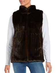 Miscellaneous Faux Fur Vest Brown