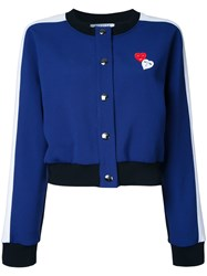 Vivetta Hearts Bomber Jacket Blue
