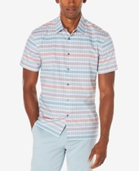 Perry Ellis Men's Multi Color Striped Shirt Citadel