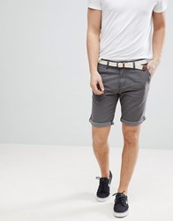 Tom Tailor Slim Fit Chino Shorts In Grey With Belt