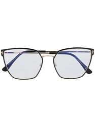 Tom Ford Eyewear Hexagonal Optical Glasses Black