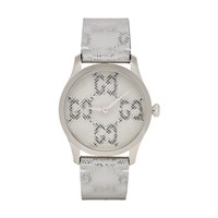 Gucci Silver Gg Hologram G Timeless Watch