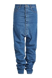 Y Project Draped Jeans With Dropped Crotch Blue