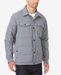 32 Degrees Men's Quilted Down Shirt Jacket Grey