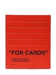 Off White Quote For Cards Leather Card Holder Orange