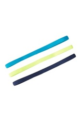 Asics Hera Thin Headbands Pack Of 3 Blue