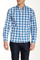 Bonobos Beach Gingham Long Sleeve Standard Fit Shirt Blue