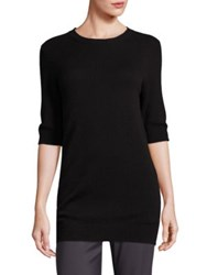 Vince Elbow Length Sleeve Cashmere Sweater Sand Rose Hip Black