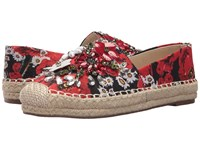 Chinese Laundry Hayden Flat Red Floral Print Flat Shoes Multi