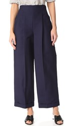 Salvatore Ferragamo High Waisted Pants Blue