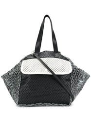 Carmina Campus Colour Block Tote Black