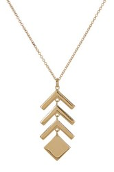 Bony Levy 14K Yellow Gold Chevron And Square Pendant Necklace