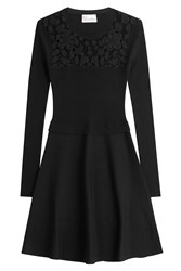 Red Valentino Dress With Lace Black