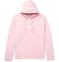 Vetements Staff Printed Cotton Jersey Hoodie Pink
