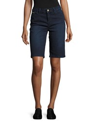 Ivanka Trump Denim Bermuda Shorts Dark Blue