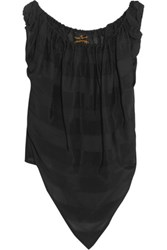 Vivienne Westwood Angloania Ruched Crepe Top Black