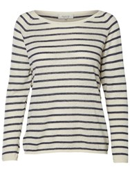 Selected Femme Nive Stripe Jumper Ombre Blue