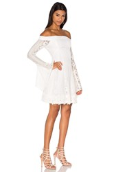 Nicholas Cornelli Lace Fit And Flare Dress White