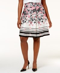 Charter Club Plus Size Printed A Line Skirt Only At Macy's Cloud Combo