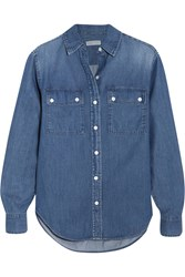 Michael Michael Kors Camp Denim Shirt Dark Denim