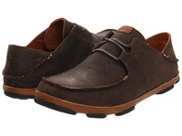 Olukai Ohana Lace Up Nubuck Dark Wood Toffee Men's Shoes Brown