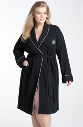 Plus Size Women's Lauren Ralph Lauren Shawl Collar Robe Black