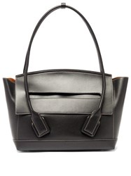 Bottega Veneta Arco 48 Medium Leather Bag Black
