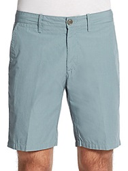 Saks Fifth Avenue Red Trim Fit Cotton Shorts Teal