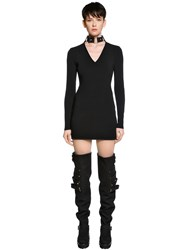 Alyx Rib Knit Dress W Bondage Choker