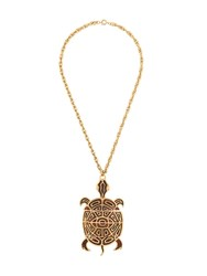 Katheleys Vintage 1970'S Trifari Crown Turtle Pendant Gold