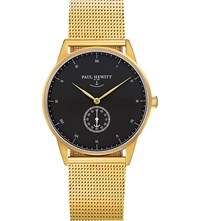 Paul Hewitt Phm1gb4m Signature Line Ip Gold Plated Stainless Steel Watch