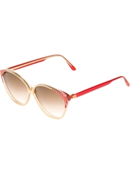 Balenciaga Vintage Bi Colour 80S Sunglasses Red