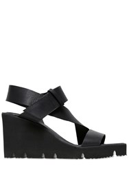 Sarah Summer 90Mm Leather Wedge Sandals