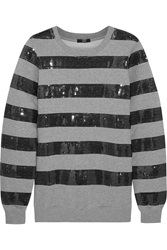 Markus Lupfer Sequined Cotton Jersey Sweatshirt